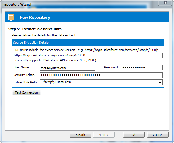 Safyr Salesforce Configure Connection