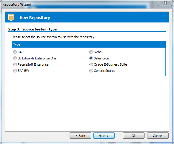 Safyr Salesforce Source System type