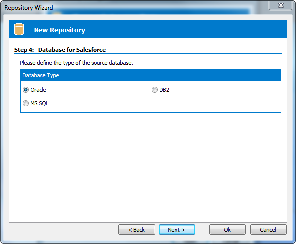 Safyr Salesforce database type