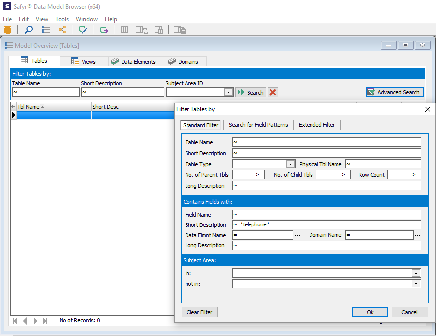 Safyr Advanced Search Feature - search for specific text strings in Salesforce