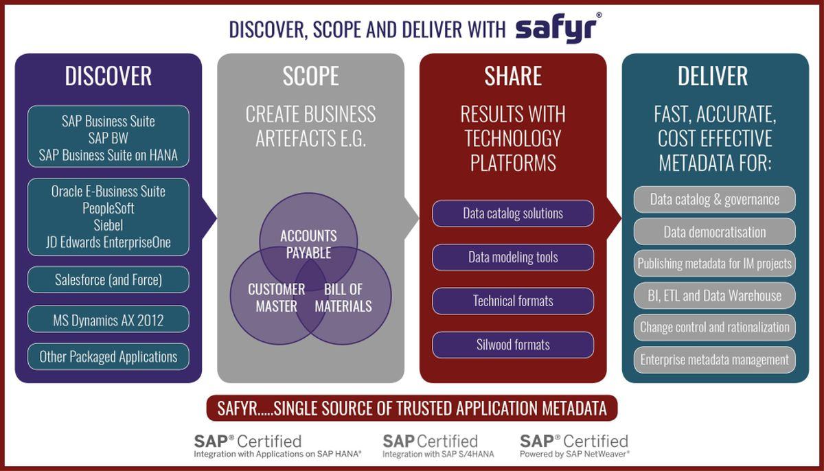 Safyr architecture for ERP Metadata Discovery